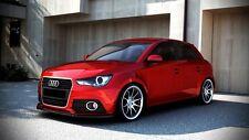 carbon Spoilerlippe für Audi A1 Frontspoiler Spoiler Schwert Ansatz S-Line S1
