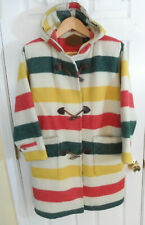 Vintage Woolrich Hudson Bay Blanket Coat Jacket Womens M USA Lined Clean!