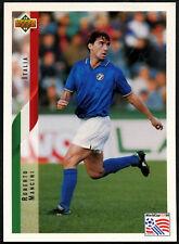 Roberto Mancini, Italy #123 World Cup USA '94, (Eng/Ger) Card (C385)