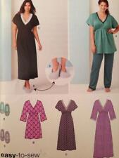 Simplicity Sewing Pattern 0472 Misses Nightgown Pajamas Slippers Size XXS-XXL UC