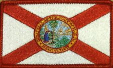 FLORIDA STATE Flag Patch Iron-On Tactical Morale Travel Emblem  Red Border #3