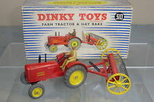 DINKY TOYS GIFT SET MODEL No.310 MASSEY HARRIS TRACTOR & HAY RAKE  VN MIB
