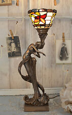 Floral Lampe De Table Art Nouveau Nymphe Lampe De Table Antique Lampe
