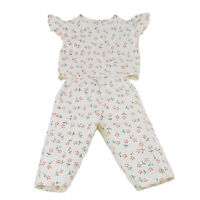 Cute Floral Sleeveless Top and Pants Outfit for 18'' AG American Doll Dolls