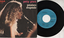 PATTY PRAVO disco 45 giri MADE in ITALY  Pensiero stupendo + Bello 1978