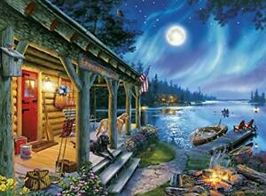 Buffalo Games - Darrell Bush - Moonlight Lodge - 1000 Piece Puzzle NEW