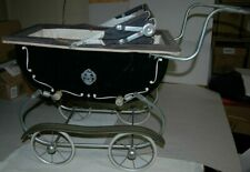 Vintage Metal XIV Kent Baby Buggy Stroller Carriage Doll