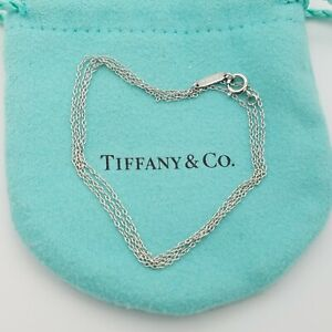 "Tiffany&Co. Pt950 Platinum Classic Link Chain Necklace 20"" inch Pouch"