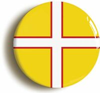 DORSET FLAG BADGE BUTTON PIN (Size is 1inch/25mm diameter)