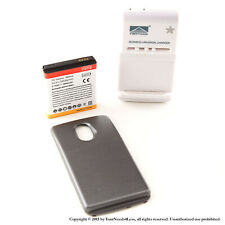 3800mAh Extended Battery for Black Samsung Galaxy Nexus L700 Sprint Charger