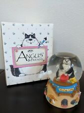 "San Francisco Music Box Company Angus And Friends ""You're Late"" Cat Snow Globe"