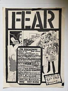 FEAR Original Punk Flyer ON BROADWAY IN SF