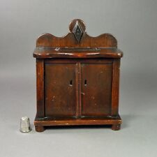 19th Century Treen Money Box Folk Art Chiffonier Makers Stamp Great Patina