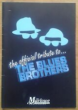Official Tribute to The Blues Brothers programme Canterbury Marlowe Theatre 1996