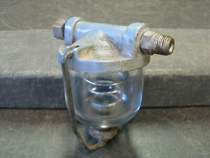VINTAGE DUREX ACCESSORY GLASS BOWL INLINE FUEL FILTER GM# 986640 HOR RAT ROD