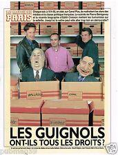 Coupure de presse Clipping 1993 (3 pages) Les Guignols