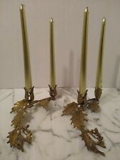 Gold Tone Metal Candle Holders Candles Not Included