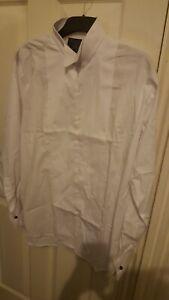 "White Marcella Dress Shirt Wing Collar size 16"""