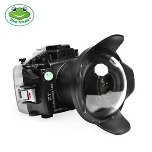 Seafrogs 40M/130FT  Underwater Camera Housing Case For Nikon Z7 with Dome Port