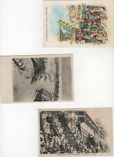 Russia Japan war 1905 3x p.cards, propaganda (Z3)