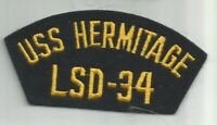 US Navy USS HERMITAGE LSD -34 patch 2-1/4 X 4-3/4 #6054