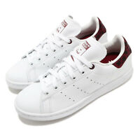 adidas Originals Stan Smith W White Burgundy Women Classic Casual Shoes EE4896