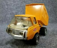 VINTAGE TONKA DUMP TRUCK (MINI SERIES) YELLOW ORANGE PRESSED STEEL