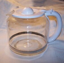 12 Cup Coffee Carafe, White Handle - unbranded