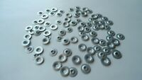 25 PUSH-ON FLAT EMBLEM RETAINERS! GM GTO BEL AIR CORVETTE CADILLAC BUICK OLDS