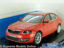 SKODA OCTAVIA MODEL CAR 1:43 SCALE ABREX RED CORRIDA UNI SALOON K8