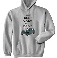 RENAULT 5 KEEP CALM AND DRIVE 1 - GREY HOODIE - ALL SIZES IN STOCK