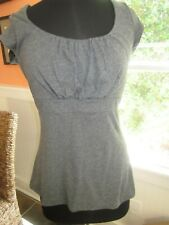 Vintage Banana Republic Pullover Knit Top Gray Tie Back Size Large Pre-Owned