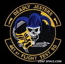 461ST FLIGHT TEST SQUADRON - DEADLY JESTERS - USAF - DOD - PATCH - MINT*****