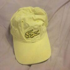 ⭐ LACOSTE Base Cap Crocodile Yellow Fashion Tennis Style one Size