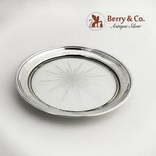 Bottle Coaster Sterling Silver Rim Cut Crystal Frank Whiting 1940