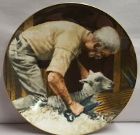 Wedgwood Click Go The Shears The Old Shearer Stands Bone China Plate c1991