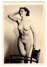#664 RÖSSLER AKTFOTO / NUDE WOMAN STUDY * Vintage 1950s Studio Photo - no PC !