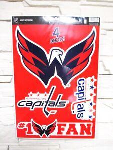 Washington Capitals 4 Sticker Decal Badges Set NHL Ice Hockey New