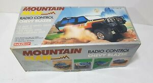 Vintage Radio Elecon Shinsei Mountain Man R/C Chevy Blazer Black in Box Japan