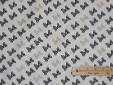 Minnie Mouse Bows Print Black & Gold Fabric by the 1/2 Yard  #85270204
