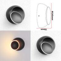 2X LED de Rotación Lámpara Pared Reflector Aplique IP44 5W Redondo Exterior Bad