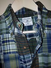 Brooks Brothers Black Fleece Madras Plaid Button-Front LS Sport Shirt Sz. S