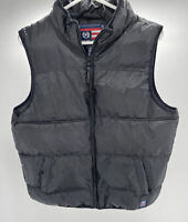 PHAT FARM Womens Puffer Vest Black Full Zip Pockets Size L 14-16