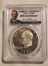 1972-S Silver Eisenhower Dollar PCGS PR70DCAM Eisenhower Label