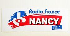 Autocollant RADIO FRANCE NORMANDIE NANCY  - Sticker Année 80/90