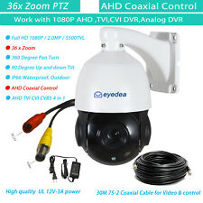 Eyedea 36X Zoom PTZ Speed Dome 1080P 5500TV AHD TVI CVI CCTV Security Camera 30M