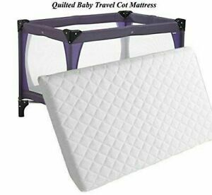 Baby Travel Cot Mattress Quilted Protector Toddler Bed Crib Cover Breathable UK
