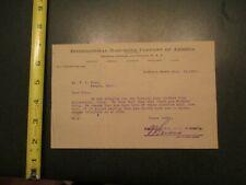 International Harvester Company of America Winona MN 1910 invoice Letterhead 454