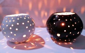 Coconut Shell Candle Lamp Natural Handmade Eco Friendly Two Colors Free Shipping