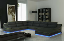 Ecksofa Leder Sofa Couch Polster Eck Sitz Wohnlandschaft Garnitur L Form A1160B